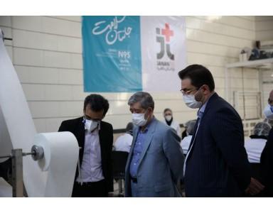 بازدید رییس دانشگاه علوم پزشکی مشهد از کارخانه جانان طب